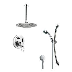 Remer - Sleek Round Rain Shower Faucet Set - Single function shower faucet.