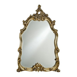 Afina Corporation - Timeless Tradition Oversized Arch Glam Wall Mirror - 25W x 36H in. - TT-122-GD - Shop for Mirrors from Hayneedle.com! The Timeless Tradition Oversized Glamour Mirror provides a look and style that harkens an earlier age. Its elegant wood frame features intricate details and filigree with detailed leaf patterns and curved highlighted embellishments. This beveled edge mirror also offers a generous view that can open up any room or foyer. Available in your choice of antique silver antique gold or antique white finishes.About AfinaAfina Corporation is a manufacturer and importer of fine bath cabinetry lighting fixtures and decorative wall mirrors. Afina products are available in an extensive palette of colors and decorative styles to reflect the trends of a new millennium. Based in Paterson N.J. Afina is committed to providing fine products that will be an integral part of your unique bath environment.