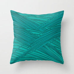 Bali Throw Pillow - Its always nice to have the tropics close at hand. With this design you can almost hear the oceanside and brush gently swaying in a soft, tropical wind. Enjoy the tranquility of your own bali design as you drift off to dream with this wonderful blue on blue palette. Enjoy!