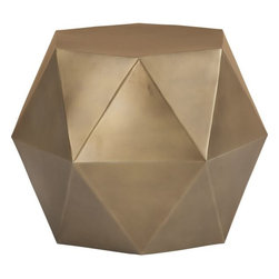 Lucida Side Table - Geometric and modern, this bronzed side table is the ultimate choice for modernizing a space while still adding a touch of luxury.