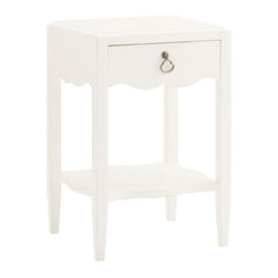 Lexington - Tommy Bahama Home Ivory Key Water Street Bedside Table - The small scale chest provides the drawer storage and display shelf ideal for bedside storage without taking up precious space. This is ideal between two twin beds or chair side since it is finished on all four sides.