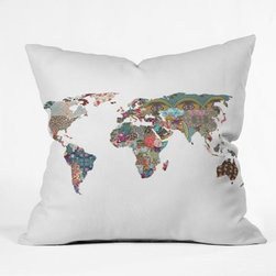 Bianca Green World Throw Pillow - You will feel a little more worldly with the Bianca Green World Throw Pillow around your home. Full of color, the lively world map is printed on woven polyester. Sure to turn some heads, this beautiful and inviting throw is great in any setting.About DENY DesignsDenver, Colorado based DENY Designs is a modern home furnishings company that believes in doing things differently. DENY encourages customers to make a personal statement with personal images or by selecting from the extensive gallery. The coolest part is that each purchase gives the super talented artists part of the proceeds. That allows DENY to support art communities all over the world while also spreading the creative love! Each DENY piece is custom created as it's ordered, instead of being held in a warehouse. A dye printing process is used to ensure colorfastness and durability that make these true heirloom pieces. From custom furniture pieces to textiles, everything they make is unique and distinctively DENY.