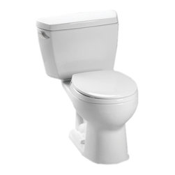 Toto - Toto CST743E Cotton White Eco Drake Toilet 1.28 GPF - The Drake series gives a simple, sleek style to any bath with its variety of options and finishes.
