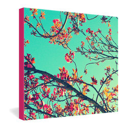 DENY Designs - Shannon Clark Summer Bloom Gallery Wrapped Canvas - Blossoming branches against a summer sky become a 3-D Instagram upon your wall, dye-printed into the fibers of a canvas. UV-resistant, archival ink ensures that those bright summer colors will cheer you year-round and for years to come.
