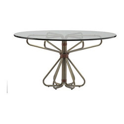 McGuire Furniture - Bassam Fellows Brass Dining Table - Be sure to check out McGuire Furniture's website for our current selection of indoor tables.