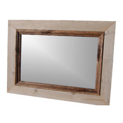 MyBarnwoodFrames - Rustic Mirror abin Mirror with Deep Alder Stepped Molding 20x24 - Barnwood  Mirrors  -  Rustic  Cabin  Mirror  with  Walnut-Stained  Alder  Molding,  20x24          Rustic  Mirrors  make  great  decor  for  your  cabin  or  lodge  and  this  handcrafted  barnwood  and  alder  wood  mirror  will  be  a  much-loved  addition  to  your  home--even  if  it  is  your  home  away  from  home.  The  mirror  frame  is  constructed  from  rustic  barnwood  timbers  and  features  a  wide  barnwood  frame  with  an  inset  molding  crafted  from  dark-walnut-stained  alder  molding.           One  of  our  favorite  mirrors,  we've  provided  this  style  to  suites  and  cabins  all  over  the  U.S.  including  Walt  Disney  Resort  themed  suites.   It's  also  a  favorite  for  homeowners  who  favor  a  rustic  or  green  decor.  D-ring  Hardware  for  hanging  horizontally  or  vertically  is  included.          Most  of  our  rustic  mirrors  are  available  in  custom  sizes.  Please  call  888-OLD-BARN  for  a  quote  (888-653-2276).