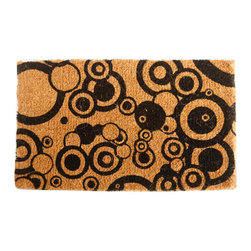 "CocoMatsNMore - CocoMatsNMore Bubbles Design Coco Doormats - 18"" X 30"" - Eco-friendly Coco Mat are hand-woven and  made from 100% natural coir . These coco doormats are designed to last for a long time and are easy to maintain and clean by either shaking or hosing it down. Designed with fade-resistant dyes they are durable enough to withstand the harshness of weather and look good througout the year. Furthermore, they keep your house clean by doing a fabulous job of trapping the dirt, mud and debris right at the doorstep."