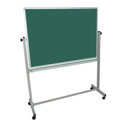 Luxor - Luxor Reversible Whiteboard - MB4836 - Luxor MB whiteboard series are made from magnetic reversible whiteboards. White paint finish on main frame