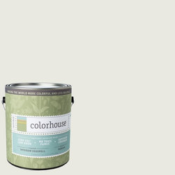 Inspired Eggshell Interior Paint, Imagine .06, Gallon - Color house paints are zero VOC, low-odor, Green Wise Gold certified and have superior coverage and durability. Our artist-crafted colors are designed to be easy backdrops for living. Color house paints are 100% acrylic with no VOCs (volatile organic compounds), no toxic fumes/HAPs-free, no reproductive toxins, and no chemical solvents.