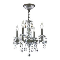 James R Moder - 95742AB44 James R Moder Mini Chandelier - In most designs, the major cost of a Crystal Chandelier is the price of the Crystal components. The quantity and shapes of the Crystal utilized to trim the Chandelier and most importantly, as in grades of diamonds, the crystal quality determines the price. James R Moder  Crystal offers our exclusive REGAL HAND-CUT AND POLISHED CRYSTAL (-44). These Chandeliers are trimmed with hand-cut and other Crystal produced by artisans in EUROPE and worldwide. This quality is popular for those who appreciate fine handcraftsmanship at a moderate price.