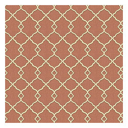 Dusty Pink Classic Trellis Cotton Sateen Fabric - Small classic cream trellis on flooded salmon pink cotton sateen.Recover your chair. Upholster a wall. Create a framed piece of art. Sew your own home accent. Whatever your decorating project, Loom's gorgeous, designer fabrics by the yard are up to the challenge!
