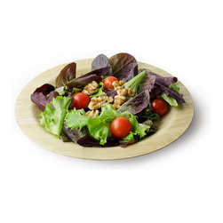 "Bamboo Studio - Bamboo Studio 9"" Round Bamboo Plate 8/pk - Made from 100% natural aged bamboo sheath."