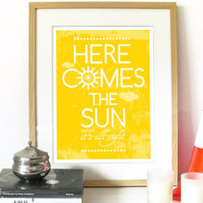 Beatles Song Music Here Comes the Sun Poster Art by PeanutoakPrint
