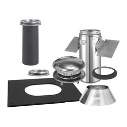 """SELKIRK CORPORATION - 6"""" Ultra-Temp Pitched Ceiling Support Kit, Stainless - 6"""" ultra-temp pitched ceiling support kit, stainless"""
