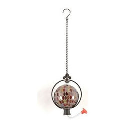 Mosaic Hummingbird Feeder - Spring is coming...time to get ready!  Hummingbirds will be returning soon and they will be hungry after their migration back.  You'll be ready for them with this beautiful mosaic hummingbird feeder.