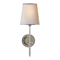 Vachel- Wall Sconce - Classic Single Light Wall Sconce with Paper Shade.