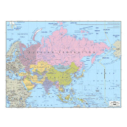 Murals Your Way - Asia 3 Wall Art - A map by EGLLC Maps, the Asia wall mural from Murals Your Way will add a distinctive touch to any room