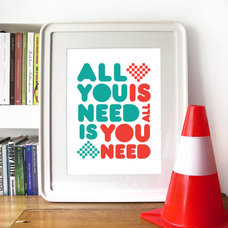 Beatles Poster Music Art ALL you NEED is LOVE by PeanutoakPrint