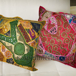 Indian Cushion Covers - Handmade cushion covers also make lovely gifts for friends and family and can be personalized for a special occasion.
