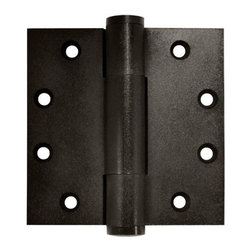 Deltana - 4.5 in. x 4.5 in. Heavy Duty Solid Brass Hinge - Pair (Dark Bronze) - Finish: Dark Bronze. Pair. Heavy duty hinge. Solid brass. Corners: Square. Thickness: 0.2 in.. Wood screw: No.12 x 1.25 in.. 4.5 in. L x 4.5 in. W