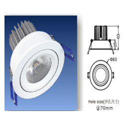 Led ceilng light - 8W COB led downlight with external driver,100-240V AC.lamp head is turnable,aluminum fixture,CCT 3000k(warm white)-4000k(natural white)-6000k(cool white), Beam angle:20/25/40 degree. Diameter:80mm,cut hole70mm Suitable for home,office,hotel ect.