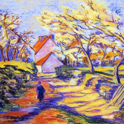 """Art MegaMart - Armand Guillaumin In the Countryside - 21"""" x 28"""" Premium Canvas Print - 21"""" x 28"""" Armand Guillaumin In the Countryside premium canvas print reproduced to meet museum quality standards. Our museum quality canvas prints are produced using high-precision print technology for a more accurate reproduction printed on high quality canvas with fade-resistant, archival inks. Our progressive business model allows us to offer works of art to you at the best wholesale pricing, significantly less than art gallery prices, affordable to all. We present a comprehensive collection of exceptional canvas art reproductions by Armand Guillaumin."""