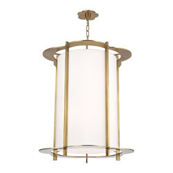 Hudson Valley - 8 Light ChandelierWarwick Collection - By the 1960s, a design evolution was gaining momentum. While continuing to embrace early modernism's enthusiasm for clean design, Mid-Century Modernists elevated expression and sculptural forms. Warwick enlivens a clean cylindrical shade with a floral-p