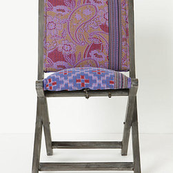Over-dyed Terai Chair, Purple - This overdyed Terai chair is simply sublime. It would look great outside on a cozy patio or inside. It would add colorful and sweet additional seating.