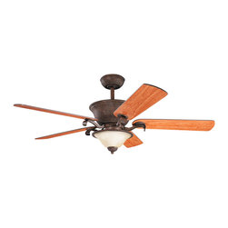 "Kichler Lighting - Kichler Lighting 300010TZG High Country Tannery Bronze 56"" Ceiling Fan - Lamp Included; Fan Control: Full Function 3-Speed CoolTouch; Weight: 34.10lbs"