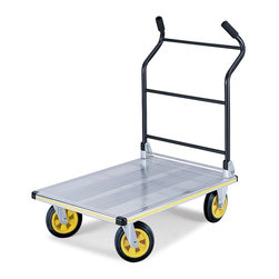 Safco - Safco Stow-Away Platform Cart - 4053NC - Shop for Platform Trucks from Hayneedle.com! Lightweight yet still big enough to the get the job done. Versatile collapsible truck will fit neatly into small spaces for compact storage. lightweight aluminum frame and decking give this truck the capacity to transport bulky loads with ease. The Safco StowAway Platform Cart has a quick-release mechanism to unfold the handle. The handle unfolds to 40.75H inches working height. Attaching the wheels is the only assembly required.