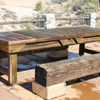Multiple styles of furniture - Repurposed 10' rustic indoor or outdoor dining table, custom built.