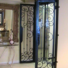 interior doors by Lidia M. Luna At Forge Iron Designs