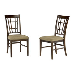 Atlantic Furniture - Atlantic Furniture Montego Bay Cappuccino Fabric Side Chair (Set of 2)-Espresso - Atlantic Furniture - Dining Chairs - AD773131 - The Atlantic Furniture Montego Bay Dining Side Chairs are constructed from Eco-friendly solid hardwood and have an elegant wood finish. This set of two dining side chairs feature a Cappuccino colored seat cushion. The Montego Bay Dining Side Chairs are perfect for a casual dining room setting.