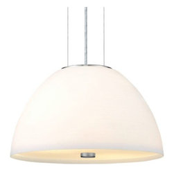 Eglo - Bibro Pendant by Eglo - The Eglo Bibro Pendant is bright, white, clean and contemporary. It features a bright dome shade of White glass, assisted in its all-around glow with a Frosted bottom diffuser. Sturdy and unobtrusive iron supports suspend the shade and complement it with a soft Matte Nickel finish. The start of its success was in 1969, when Ludwig Obwieser created Eglo Leuchten. Development of new markets opened the opportunity to establish more than 70 business premises all over the world. Today, Eglo is globally classed as one of the most successful suppliers of decorative home lighting.