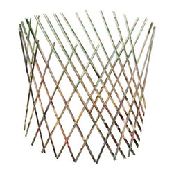 "Master Garden Products - Willow Cone Trellis, 36""H - Surround your plants and shrubs with our expandable willow twig cone trellis or fill it with dry leaves that will provide a beautiful and natural protection from the snow, ice, and destructive animals. These cones provide an inexpensive and practical way to insulate your garden. Folds compactly for easy storage."