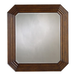 Stanley Furniture - Archipelago Tradewinds Landscape Mirror - Note how the relaxed corners and beveled edge of the glass in the Tradewinds Landscape Mirror transition cleanly to the frame, whose layered effect evokes rippled water. Like a jewel disturbing the surface of a quiet pool. Made to order in America.
