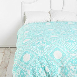 Papercut Duvet Cover - Paper cut designs rock; therefore, I adore this paper cut–inspired duvet cover.