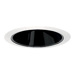 Juno Lighting Group - Black Alzak Cone for 4-Inch Recessed Housing - 17B-WH - This recessed downlight features a black Alzak� cone and white trim ring. It measures 5 inches wide with a 3-3/8-inch aperture. Dry location rated.