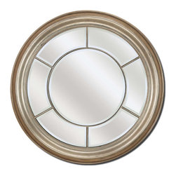 Paragon - Round Silver - Mirrors Decorative - Each product is custom made upon order so there might be small variations from the picture displayed. No two pieces are exactly alike.