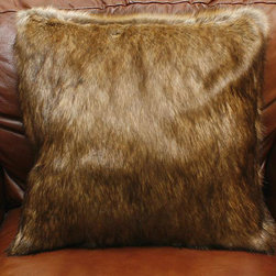None - Coyote Faux Fur Pillows (Set of 2) - Take a walk on the wild side with a pair of coyote faux fur pillows Perfect decor piece for any couch, chair or bed Throw pillows are unbelievably soft, plush and irresistible