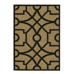 "Martha Stewart Living - Martha Stewart Area Rug: Fretwork Coffee/Black 6' 7"" x 9' 6"" Indoor / Outdoor - Shop for Flooring at The Home Depot. Designed to work equally well in indoor and outdoor spaces, the durable and practical Fretwork recreates the look of natural fiber sisal rugs, but is actually machine-woven in Belgium of 100-percent enhanced polypropylene for UV protection and mildew- and mold-resistance."