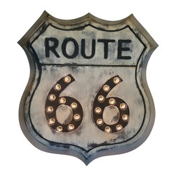 Route 66 Marquee Sign - Our Classic ROUTE 66 sign is perfect for any room in your house. For playroom, basement or patio area too!