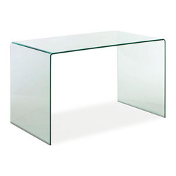 ZUO - Caravan Desk - If you want something pure and unique, try the transparent Caravan Desk. Redefines modern sleek while holding your laptop and pens and stray receipts. Molded from tempered glass, it's a clear winner.