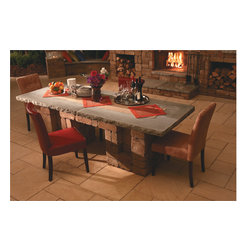 Dining Table | Necessories™ ― Outdoor Living Kits - Necessories™ is a collection of ready-to-assemble outdoor fireplaces, waterfalls, bars, tables, fire rings, seat walls and patio kits.