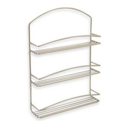 Spectrum - Spectrum 3-Tier Euro Wall Mount Spice Rack - The clean lines and steel fabrication of this wall-mounted spice rack will add a contemporary touch to your kitchen. Its 3 tiers provide ample room for storing a number of spices in one convenient place.