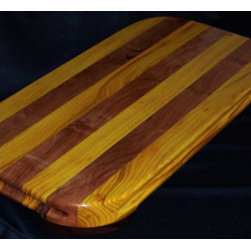 Cutting Boards - This cutting board is made from two of the hardest woods grown in North America, Texas Mesquite and Osage Orange. Properly maintained this board should last for generations.
