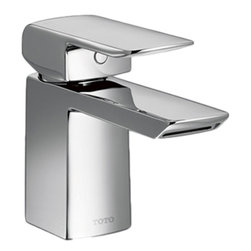 Toto - Toto TL960SDLQ#CP Polished Chrome Soiree Single Handle Lavatory Faucet - This Toto TL960SDLQ#CP single lever handle widespread lavatory faucet from the Soiree collection of Toto USA faucets features a contemporary design that adds a clean, modern style to any bathroom, and it comes in a polished chrome finish.