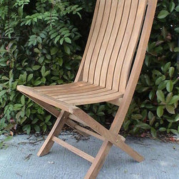 Anderson Teak - CHF301 Comfort Folding Chair - Made from the finest solid teak, this chair is strong and durable yet light enough to allow f or easy storage. This is a beautiful and functional piece of furniture f or your patio or terrace.
