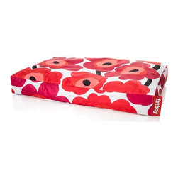 Fatboy - Doggielounge Flexible Dog Bed, Unikko Red - Choose Size: Large 48 x 32