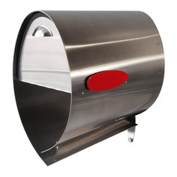 Spira Mailbox - Spira PostBox Stainless Steel Mailbox, Stainless Steel, 10 X 18 X 17.5 - Contemporary stainless steel 316 mailbox with magnetic door closer and integrated self-draining newspaper/package bin.  Very rugged and high-quality materials make a discerning statement.  Integrated mounting bracket installs easily on any vertical post using 2 fasteners (provided).  Available in two sizes.